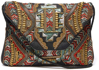 Ricki Designs Fold Over Embroidered & Beaded Crossbody Bag