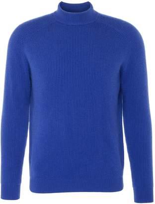 Dreyden 'Cavalier' cashmere rib knit unisex mock neck sweater