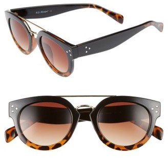 Women's A.j. Morgan Get It 48Mm Sunglasses - Black/ Tortoise $24 thestylecure.com