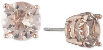 Marchesa Rose Gold-Tone Cubic Zirconia Stud Earrings