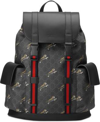 Gucci Soft GG Supreme tigers backpack