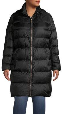 MICHAEL Michael Kors Hooded Down Puffer Jacket