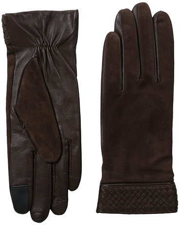 Cole Haan  Cole Haan Braided Cuff Suede Gloves with Tech