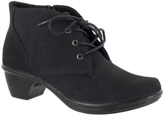 Easy Street Shoes Womens Debbie Block Heel Zip Bootie