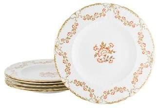 Royal Crown Derby Set of 6 Bourbonnais Dinner Plates