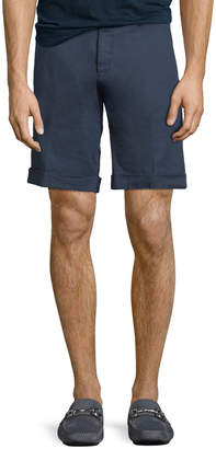 Etro Washed Linen/Cotton Stretch Bermuda Shorts