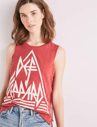 Lucky Brand DEF LEPPARD SIDE LACE UP TEE
