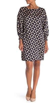ABS by Allen Schwartz Collection Long Sleeve Polka Dot Dress