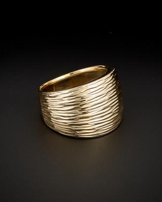 Italian Gold 14K Diamond Cut Cigar Band Ring