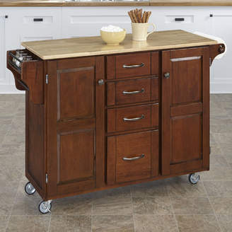 August Grove Woodland-a-Cart Kitchen Island with Butcher Block Top