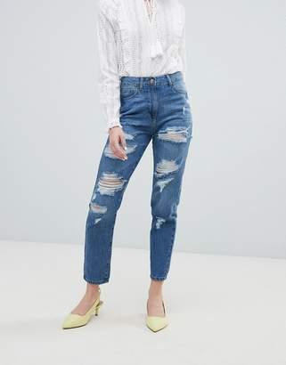 Parisian Ripped Boyfriend Jeans