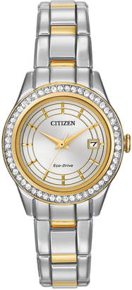 Citizen 28mm Silhouette Two-Tone Crystal Watch