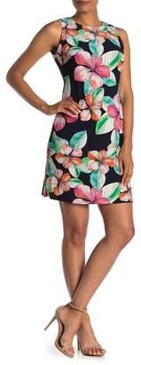 Calvin Klein Hibiscus Print Jersey A-Line Dress