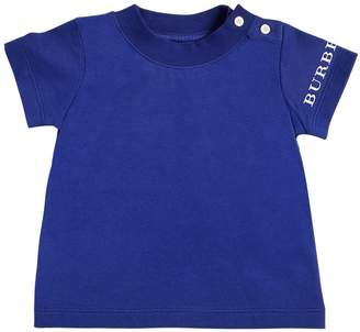 Burberry Logo Detail Cotton Jersey T-Shirt