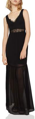 BCBGeneration Lace-Inset Maxi Dress