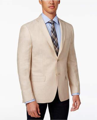 Calvin Klein Men's Slim-Fit Off-White Sport Coat $350 thestylecure.com