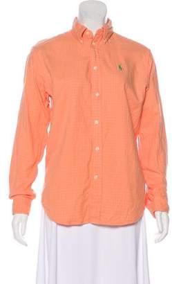 Ralph Lauren Long Sleeve Button-Up Top