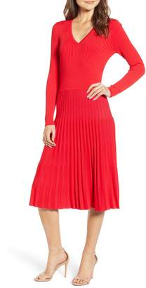 Chelsea28 Accordion Sweater Dress