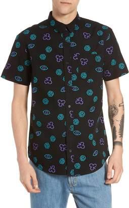 The Rail Short Sleeve Print Poplin Shirt