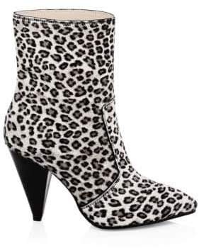 Stuart Weitzman Atomic West Cone Heel Fur Booties