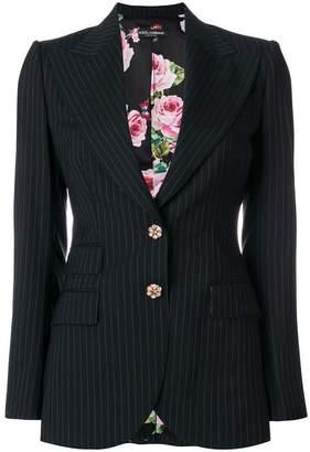 Dolce & Gabbana pinstripe fitted blazer