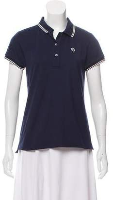 Tory Sport Short Sleeve Collared Top
