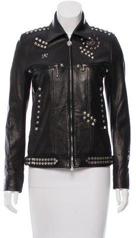 BalmainBalmain Studded Leather Jacket