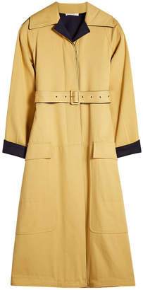 Celine Cotton Coat with Wool Lining