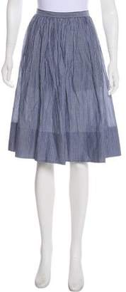 Vince Knee-Length Striped Skirt