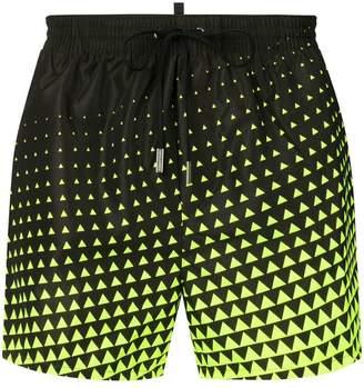 DSQUARED2 geometric print swim shorts