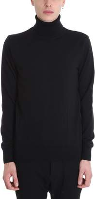 Balmain Black Wool Turtle Neck Sweater