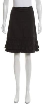 Prada Ruffle Knee-Length Skirt