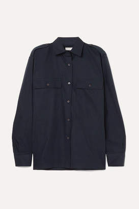 Dries Van Noten Cotton-poplin Shirt - Navy