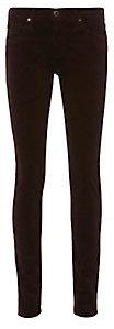 AG Brown Velvet Super Skinny Jeans $198 thestylecure.com