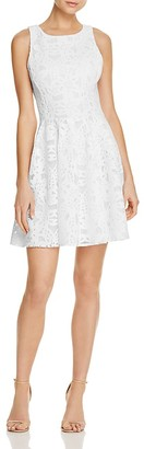 AQUA Textured Fit-and-Flare Dress - 100% Exclusive $98 thestylecure.com