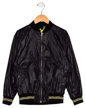 Versace Boys' Reversible Bomber Jacket