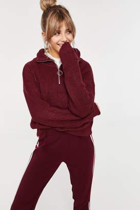Ardene Mock Neck Zip Sweater