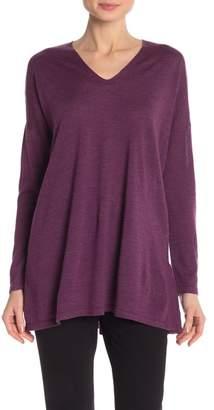 Eileen Fisher V-Neck Merino Wool Tunic