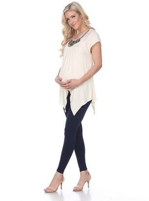 Myla WHITE MARK Maternity 'Myla' Embellished Tunic - Plus