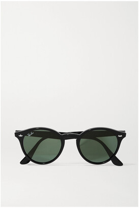 Ray-Ban - Round-frame Acetate Sunglasses - Black $140 thestylecure.com