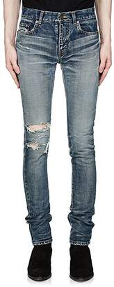 Saint Laurent Men's Distressed Skinny Jeans