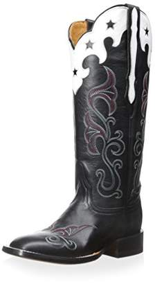 Lucchese Women's Scallop Top Star Western Boot
