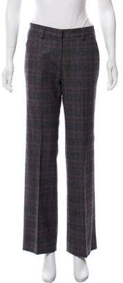 Luciano Barbera Mid-Rise Checked Pants w/ Tags