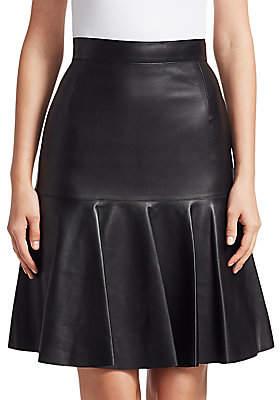 Akris Punto Women's Ruffled Leather Fit-&-flare Skirt