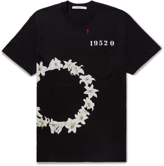 Givenchy Columbian-Fit Printed Cotton-Jersey T-Shirt $595 thestylecure.com