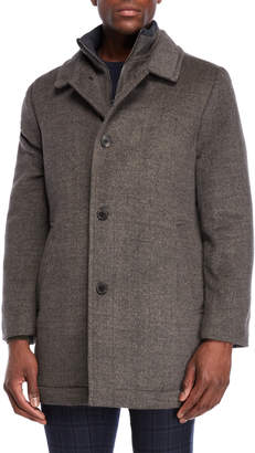 Hart Schaffner Marx Smoke Macbeth Wool Overcoat