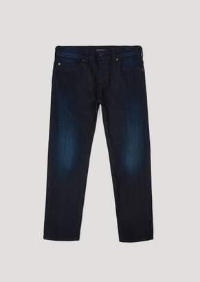 Emporio Armani Slim Fit Jeans In 10Oz Comfort Cotton Twill