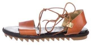 Dries Van Noten Leather Tie Sandals