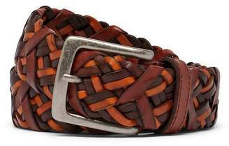 Tommy Bahama Braided Vachetta Leather Belt