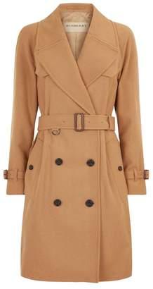 Burberry Herringbone Double-Breasted Coat